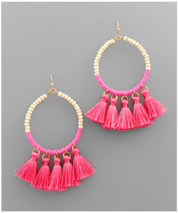 Eliza Earrings - Pink
