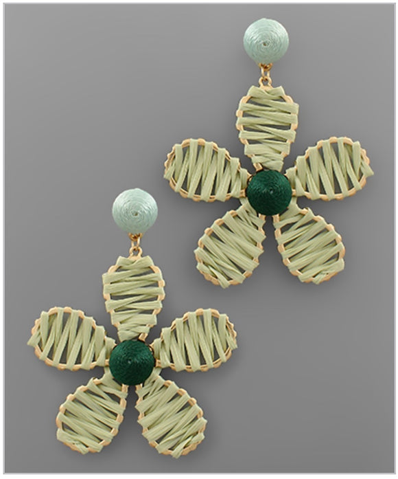 Flower Power Earrings - Green