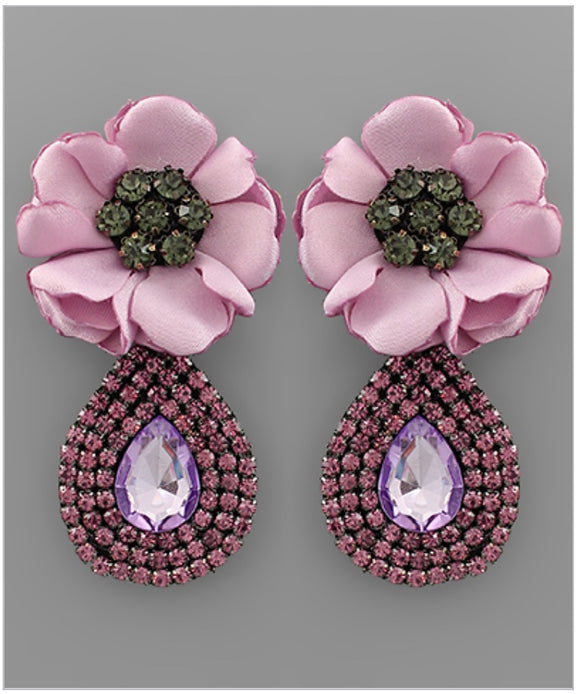 Floral Bloom Statement Earrings