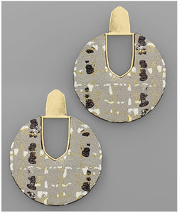 Kenzie Earrings - Gray