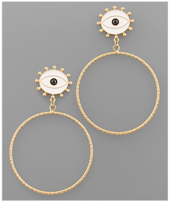 Eyes On You Earrings - White