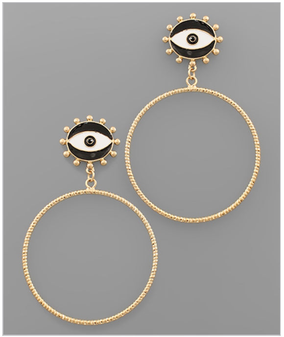 Eyes On You Earrings - Black