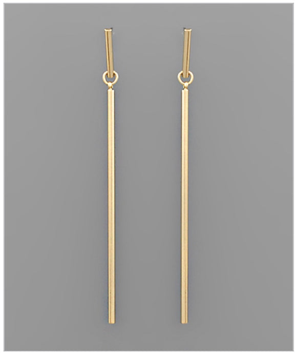 Walk The Line Earrings - Gold