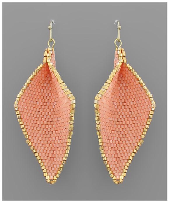 Wren Earrings - Coral