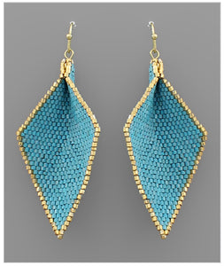 Wren Earrings - Teal