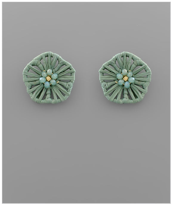 Flower Child Stud Earrings - Green