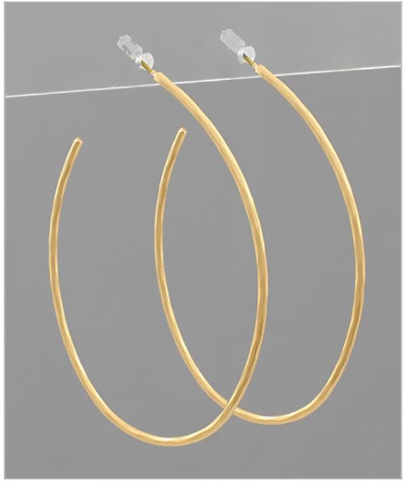 Olivia Hoop Earrings - Matte Gold