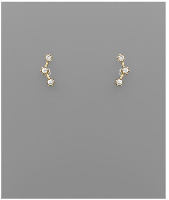 Constellation Stud Earrings - 14k Plated