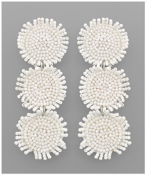 Skylar Earrings - White