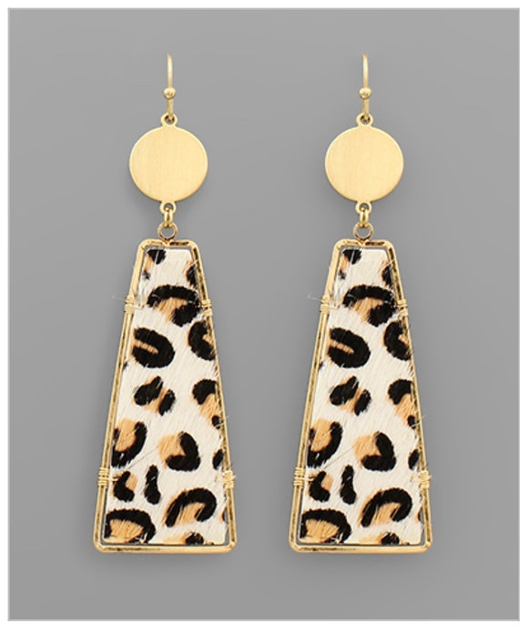 Cheetah Girl Earrings - Ivory