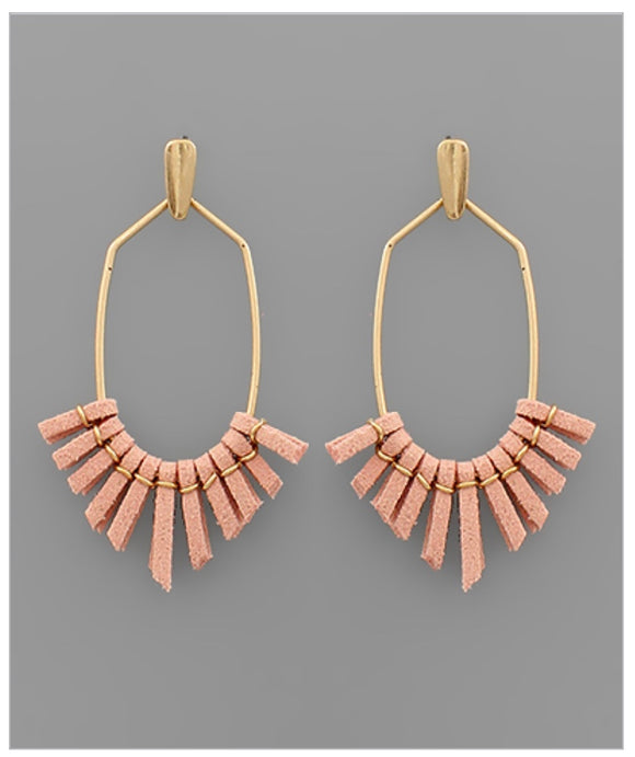 Mila Earrings - Pink