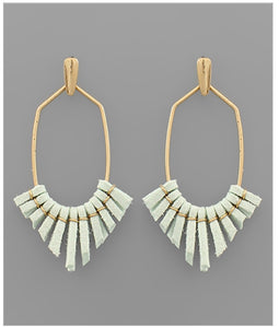 Mila Earrings - Mint