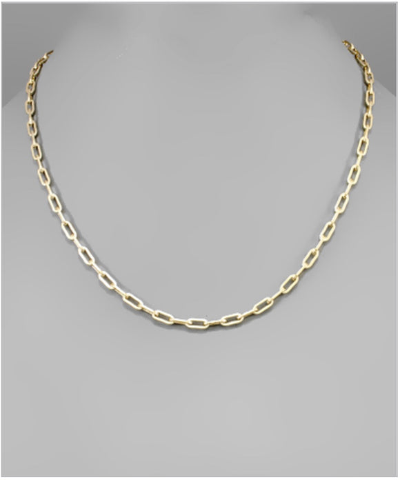 Hollis Link Necklace - Gold Dipped