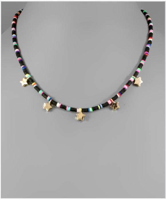 Lucky Stars Choker - Black/Multi