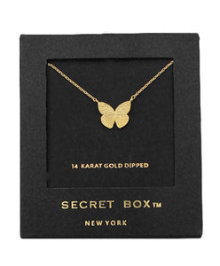Butterfly Charm Necklace - 14k Dipped