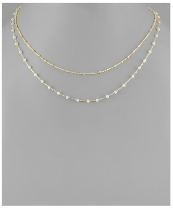 Elise Necklace - Light Gray