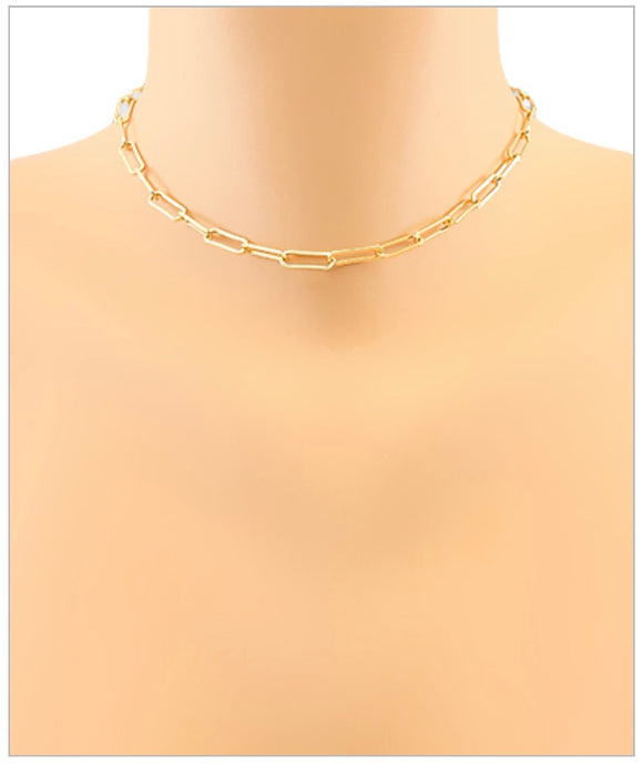 Lennox Link Necklace - Gold