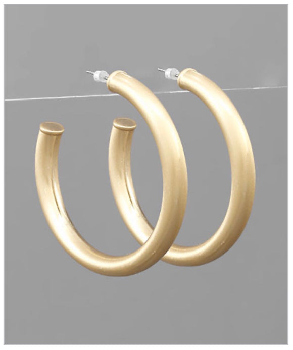 Shay Hoops - Brushed Gold