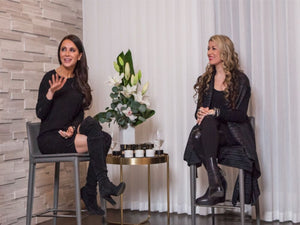 Jessica Mulroney and Lauren Bagliore talking fashion