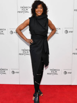 Robyn Payne wearing Spring Summer 2019 Black Dress at Tribeca Film Festival