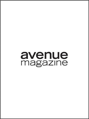 Avenue Magazine Heather Marks wearing Lauren Bagliore Fashion Coats