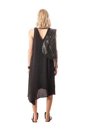 Double-Layer V-Neck Dress, Viscose