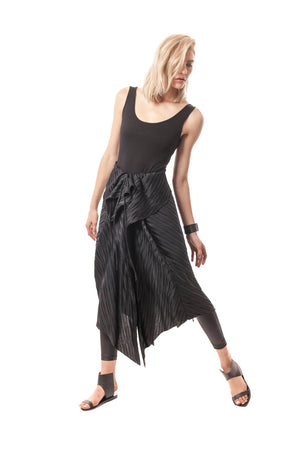 Pleated Convertible + Transformable Pleated Dress/Poncho/Shawl/Skirt/Cape/Wrap