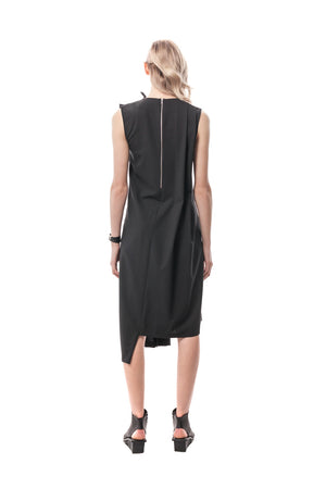 Rivoli Asymmetrical Romper Dress, wool