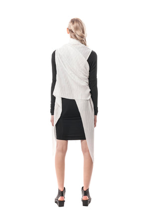 Crema Edgy and Elegant Yoshiaki Pleated Wrap