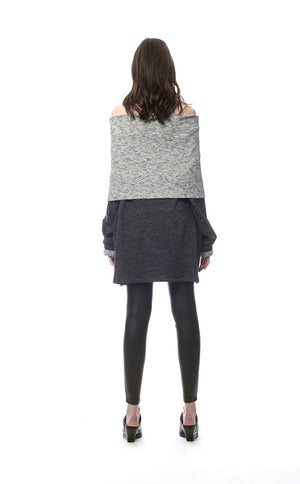 Salvezza Nuova Off-Shoulder Cowl Sweater