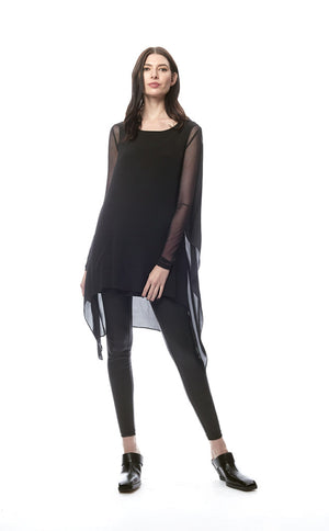 Mina Double Layer Crinkle Tunic Top