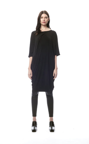 Vivara Oversized Reversible Dress With Mesh V-Neck