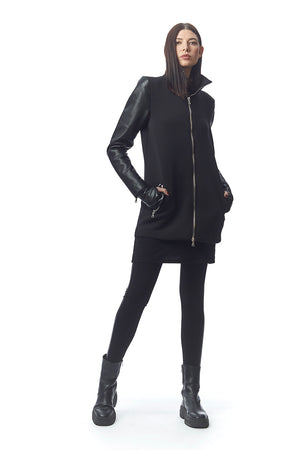Matrix Neoprene + Leather Coat