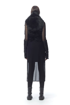 Tirrenia Reversible + Convertible Fur Vest with Ties