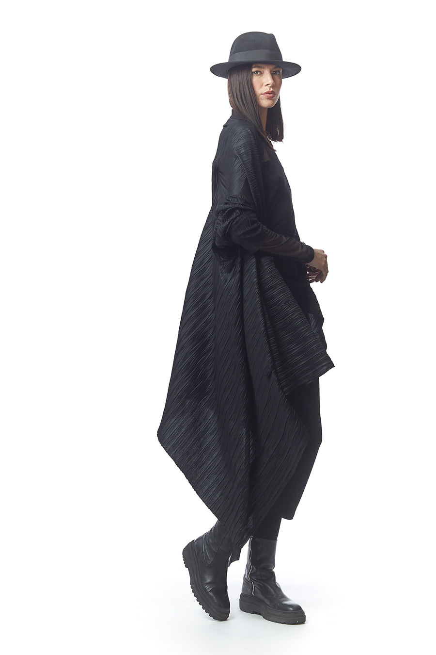 Palermo Pleated Convertible Jacket/Wrap