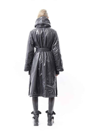 Samurai Hooded Wrap Coat