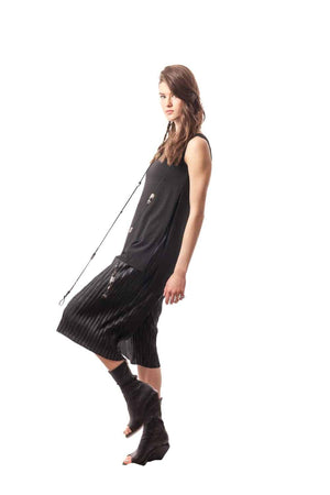 Black Siena Side-Slit Tunic