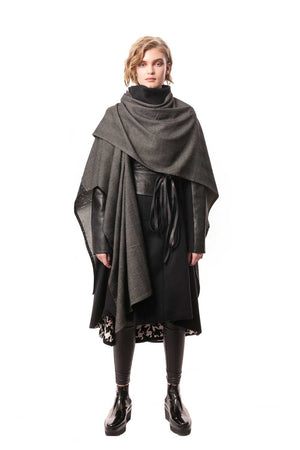 Padova Poncho, Edgy and sophisticated, Wool