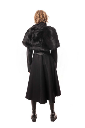 Toscana Shearling Fur Silk Lined Collar