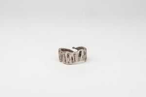 Italia: Ancient Greek Irregular Tree Bark Wrap Ring