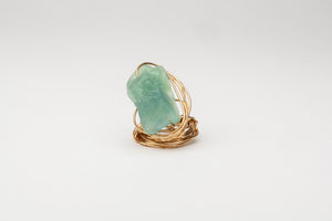 LB Rimella Wrapped Artisan-made Ring oro-gold fluorite