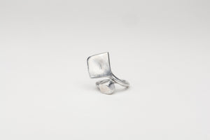 Italia Square Wrap Ring, Silver