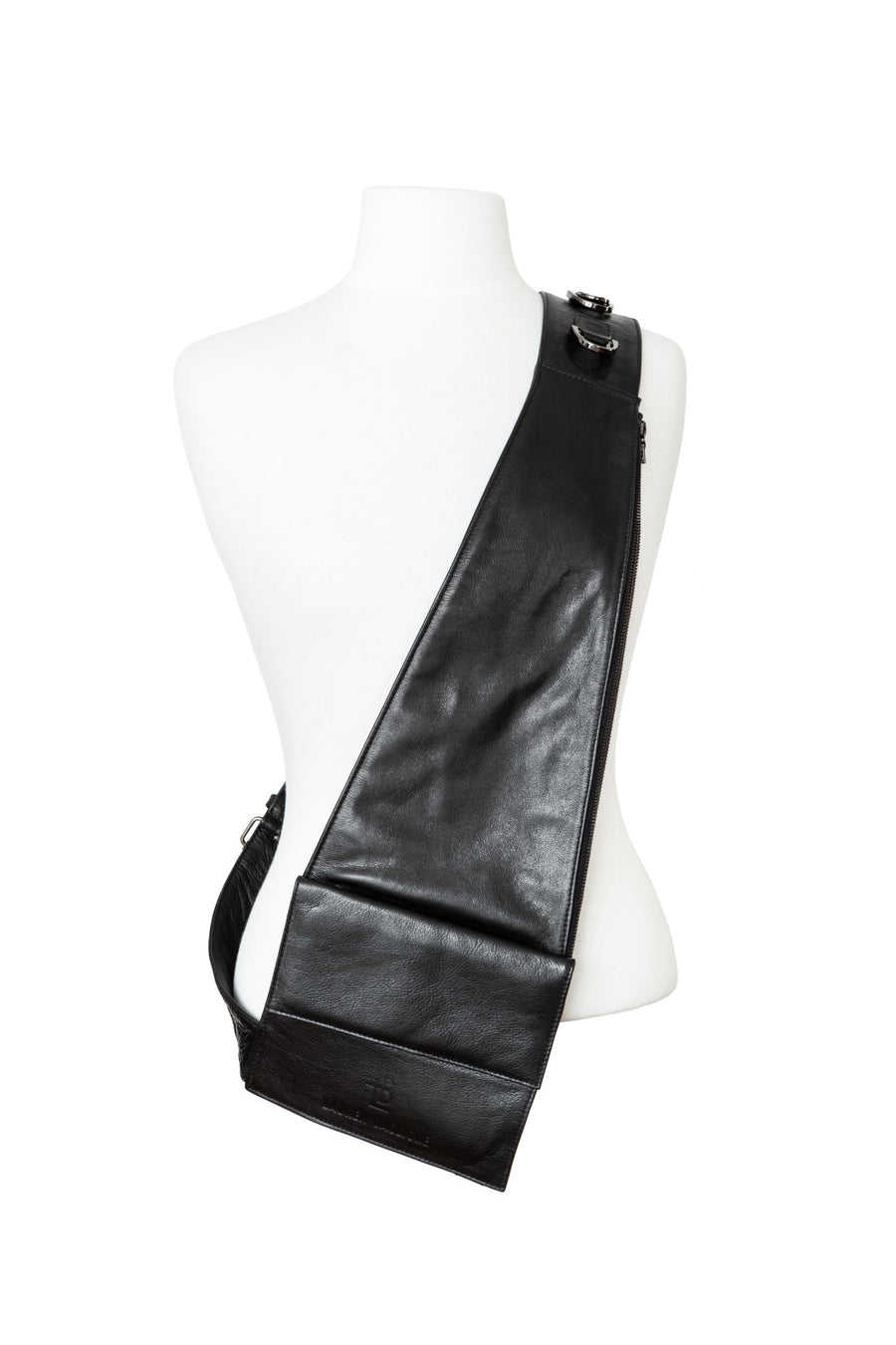 Black Leather Over the Shoulder Bag