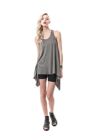 Grey Tula T-Strap Tunic Top