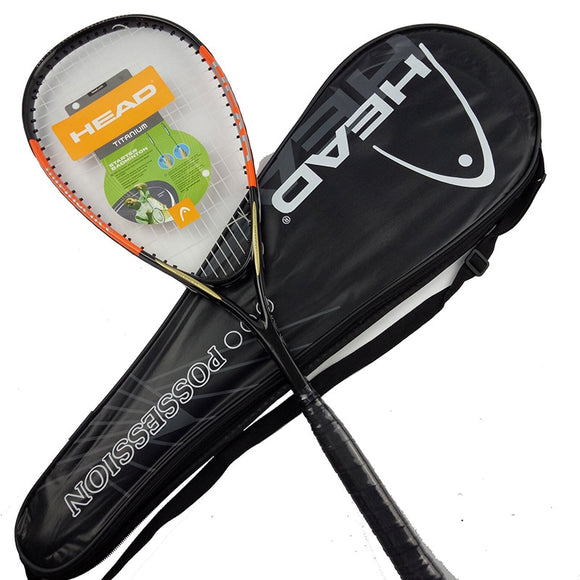 HEAD Carbon Squash Racket 1 Piece Padel With Original Squash Bag