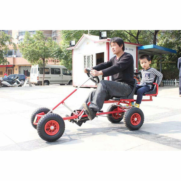 2 Seat Go Kart Can Carry a Passenger Kid, Adult Go-karts with Hand Brake,