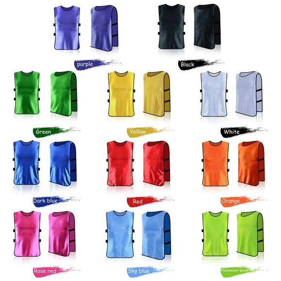 Adult/Child Football Soccer Kid Team Sports  Training Pinnies Jerseys Outdoor