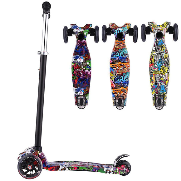 Children Graffiti Scooter Gift for kids Fun Exercise Skateboard Toys   stunt scooter
