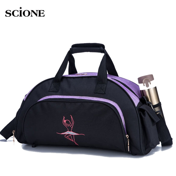 Dance Girl Gym Bag Women Yoga Mat Bags For Fitness Training Sports Handbag Shoulder  dancing Gym