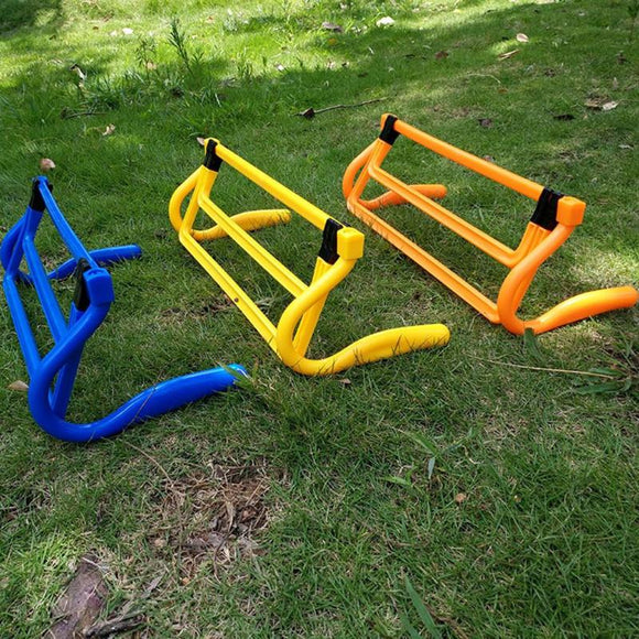 Hot Hurdle Foldable Removable Football Barrier Frame Soccer  Adjustment Height Barrier For Training Sensitive Speed